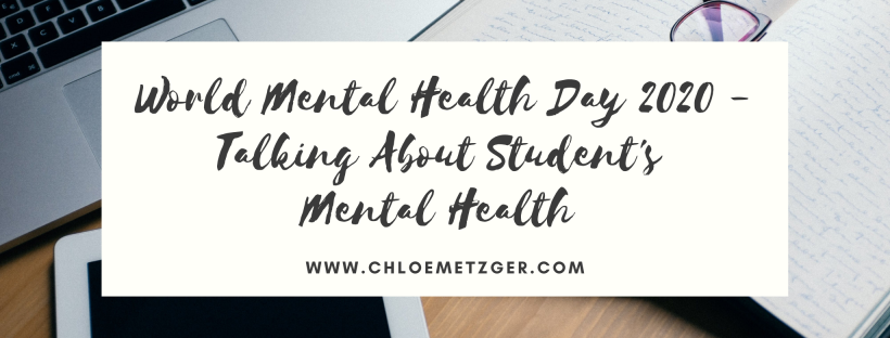World Mental Health Day 2020 - Talking About Student's Mental Health